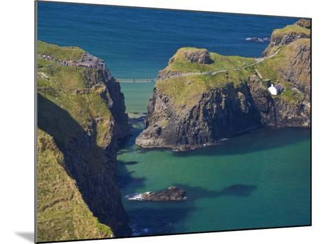 Carrick-A-Rede Rope Bridge to Carrick Island, Larrybane Bay, County Antrim, Ulster-Neale Clarke-Mounted Photographic Print