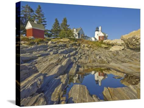 Pemaquid Lightouse and Fishermans Museum, Pemaquid Point, Maine, USA-Neale Clarke-Stretched Canvas Print
