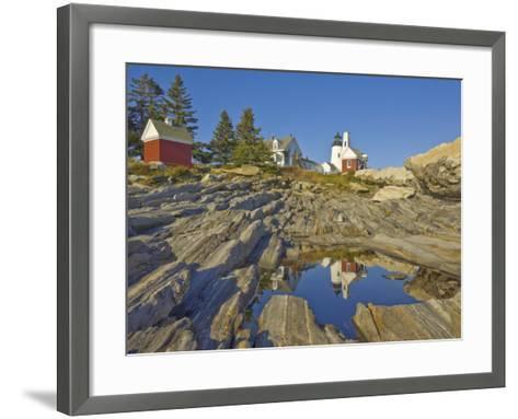 Pemaquid Lightouse and Fishermans Museum, Pemaquid Point, Maine, USA-Neale Clarke-Framed Art Print