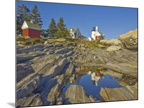 Pemaquid Lightouse and Fishermans Museum, Pemaquid Point, Maine, USA-Neale Clarke-Mounted Photographic Print