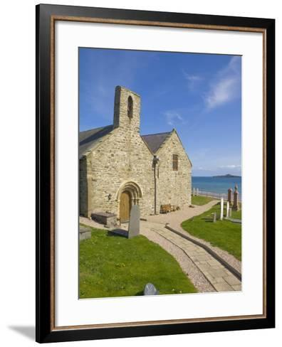 St. Hywyn's Church and Graveyard, Aberdaron, Llyn Peninsula, Gwynedd, North Wales, Wales, UK-Neale Clarke-Framed Art Print