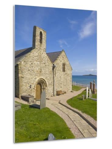 St. Hywyn's Church and Graveyard, Aberdaron, Llyn Peninsula, Gwynedd, North Wales, Wales, UK-Neale Clarke-Metal Print