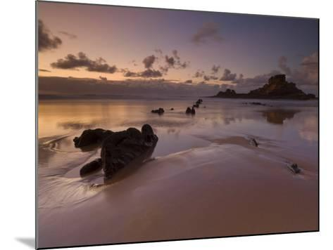 Sunset and Low Evening Light on the Rocks, Castelejo Beach, Near Vila Da Bispo, Algarve, Portugal-Neale Clarke-Mounted Photographic Print