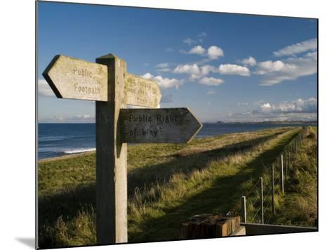 Public Footpath Sign on Lindisfarne, Northumberland, England, United Kingdom, Europe-Rob Cousins-Mounted Photographic Print