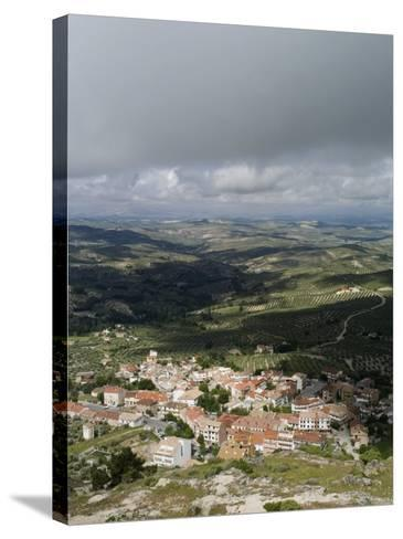 Burunchel Town and Landscape of Jaen Province Viewed from Cazorla Natural Park, Andalucia, Spain-Rob Cousins-Stretched Canvas Print