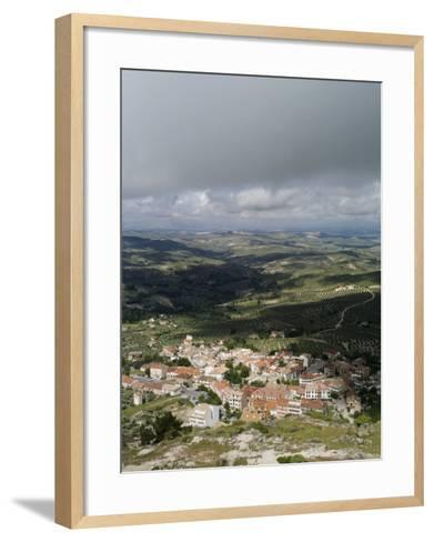 Burunchel Town and Landscape of Jaen Province Viewed from Cazorla Natural Park, Andalucia, Spain-Rob Cousins-Framed Art Print