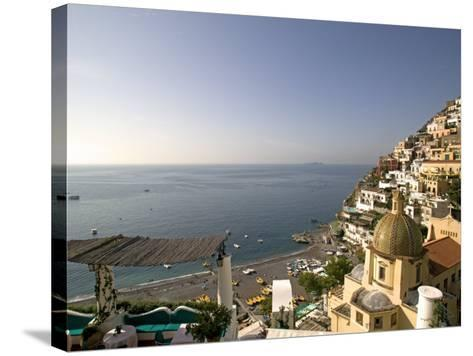 Positano, Amalfi Coast, UNESCO World Heritage Site, Campania, Italy, Europe-Marco Cristofori-Stretched Canvas Print