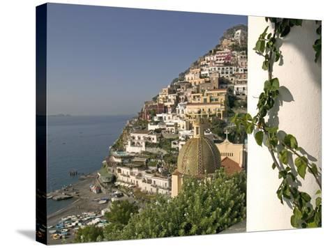 Positano, View from Hotel Sirenuse, Amalfi Coast, UNESCO World Heritage Site, Campania, Italy-Marco Cristofori-Stretched Canvas Print