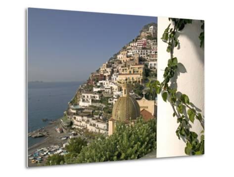 Positano, View from Hotel Sirenuse, Amalfi Coast, UNESCO World Heritage Site, Campania, Italy-Marco Cristofori-Metal Print