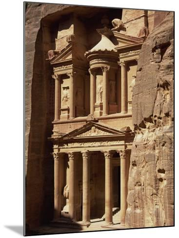 Al Khazneh, Rock-Cut Building Called the Treasury, Archaeological Site, Petra, Jordan, Middle East-Neale Clarke-Mounted Photographic Print