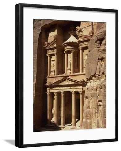 Al Khazneh, Rock-Cut Building Called the Treasury, Archaeological Site, Petra, Jordan, Middle East-Neale Clarke-Framed Art Print