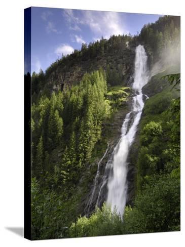 Stuibenfall, Tyrol's Highest Waterfall, Otztal Valley, Tyrol, Austria, Europe-Gary Cook-Stretched Canvas Print