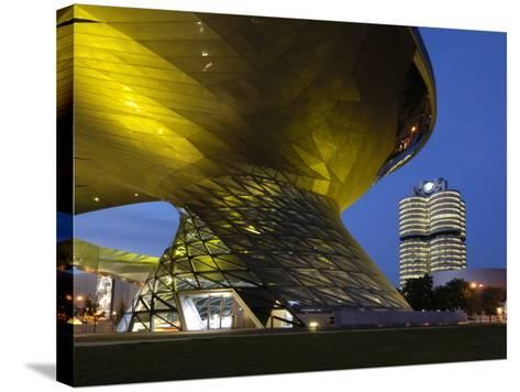 Bmw Welt and Headquarters Illuminated at Night, Munich, Bavaria, Germany, Europe-Gary Cook-Stretched Canvas Print