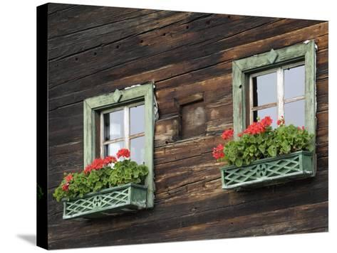 Typical Window Box, Otztal Valley, Tyrol, Austria, Europe-Gary Cook-Stretched Canvas Print