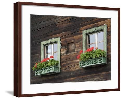 Typical Window Box, Otztal Valley, Tyrol, Austria, Europe-Gary Cook-Framed Art Print