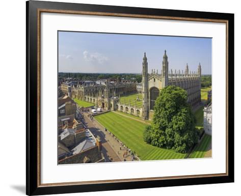 Kings College and Chapel, Cambridge, Cambridgeshire, England, United Kingdom, Europe-Neale Clarke-Framed Art Print