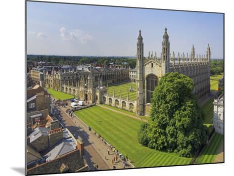 Kings College and Chapel, Cambridge, Cambridgeshire, England, United Kingdom, Europe-Neale Clarke-Mounted Photographic Print