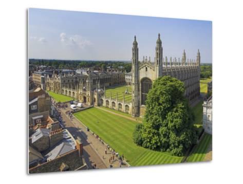 Kings College and Chapel, Cambridge, Cambridgeshire, England, United Kingdom, Europe-Neale Clarke-Metal Print