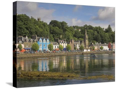 Multicoloured Houses and Small Boats in the Harbour at Tobermory, Balamory, Mull, Scotland, UK-Neale Clarke-Stretched Canvas Print