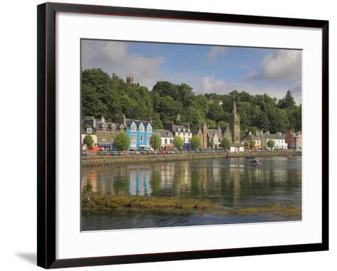 Multicoloured Houses and Small Boats in the Harbour at Tobermory, Balamory, Mull, Scotland, UK-Neale Clarke-Framed Art Print