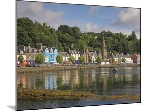 Multicoloured Houses and Small Boats in the Harbour at Tobermory, Balamory, Mull, Scotland, UK-Neale Clarke-Mounted Photographic Print