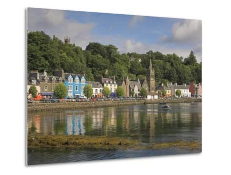 Multicoloured Houses and Small Boats in the Harbour at Tobermory, Balamory, Mull, Scotland, UK-Neale Clarke-Metal Print