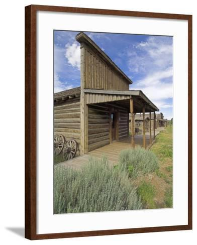 Original Storefront or Saloon Relocated to the Wild West Town of Cody, Montana, USA-Neale Clarke-Framed Art Print