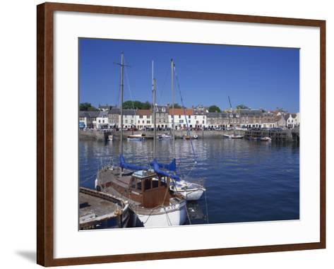Boats on Water and Waterfront at Neuk of Fife, Anstruther, Scotland, United Kingdom, Europe-Kathy Collins-Framed Art Print