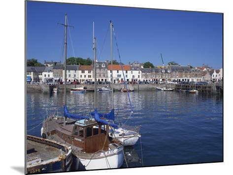 Boats on Water and Waterfront at Neuk of Fife, Anstruther, Scotland, United Kingdom, Europe-Kathy Collins-Mounted Photographic Print