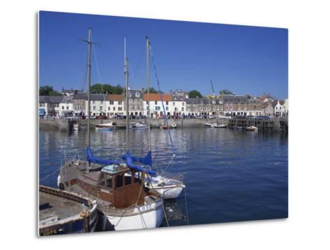 Boats on Water and Waterfront at Neuk of Fife, Anstruther, Scotland, United Kingdom, Europe-Kathy Collins-Metal Print