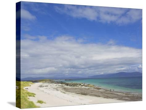 Traigh Bhan Beach and Sound of Iona, Isle of Iona, Inner Hebrides, Scotland, United Kingdom, Europe-Neale Clarke-Stretched Canvas Print