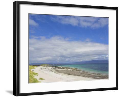 Traigh Bhan Beach and Sound of Iona, Isle of Iona, Inner Hebrides, Scotland, United Kingdom, Europe-Neale Clarke-Framed Art Print