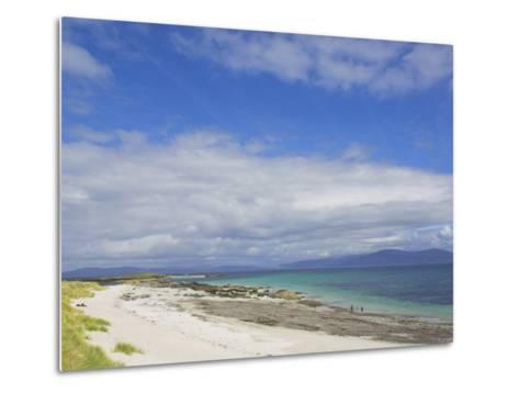 Traigh Bhan Beach and Sound of Iona, Isle of Iona, Inner Hebrides, Scotland, United Kingdom, Europe-Neale Clarke-Metal Print