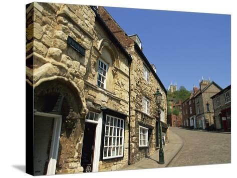 Jews Court, Steep Hill, Lincoln, Lincolnshire, England, United Kingdom, Europe-Neale Clarke-Stretched Canvas Print