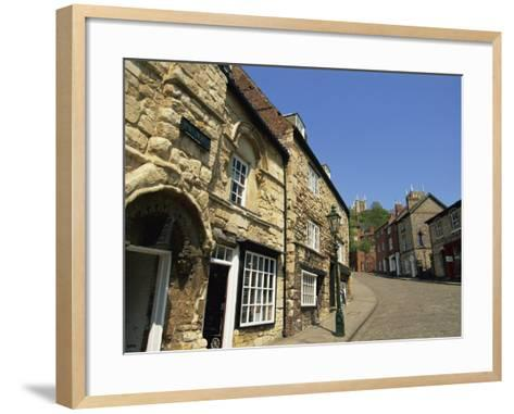 Jews Court, Steep Hill, Lincoln, Lincolnshire, England, United Kingdom, Europe-Neale Clarke-Framed Art Print
