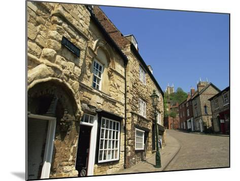 Jews Court, Steep Hill, Lincoln, Lincolnshire, England, United Kingdom, Europe-Neale Clarke-Mounted Photographic Print