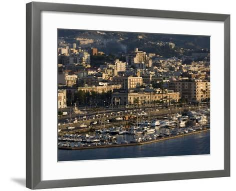 Yacht Marina, Port of Messina, Sicily, Italy, Mediterranean, Europe-Richard Cummins-Framed Art Print