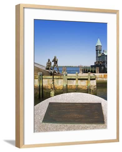 American Merchant Mariners Memorial in Battery Park, Lower Manhattan, New York City, New York, USA-Richard Cummins-Framed Art Print