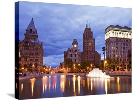 Clinton Square, Syracuse, New York State, United States of America, North America-Richard Cummins-Stretched Canvas Print