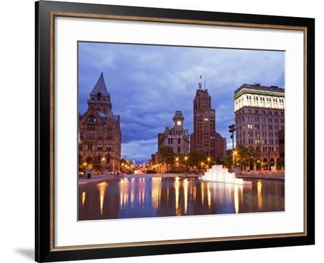 Clinton Square, Syracuse, New York State, United States of America, North America-Richard Cummins-Framed Art Print