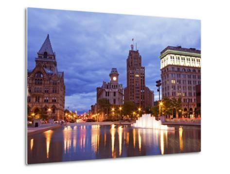 Clinton Square, Syracuse, New York State, United States of America, North America-Richard Cummins-Metal Print