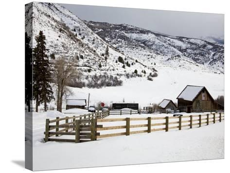 Barn Near Snowmass Village, Aspen Region, Rocky Mountains, Colorado, USA-Richard Cummins-Stretched Canvas Print