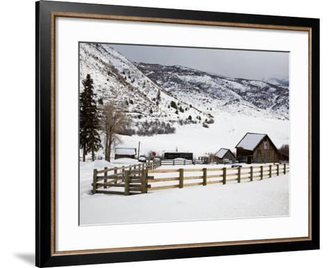Barn Near Snowmass Village, Aspen Region, Rocky Mountains, Colorado, USA-Richard Cummins-Framed Art Print
