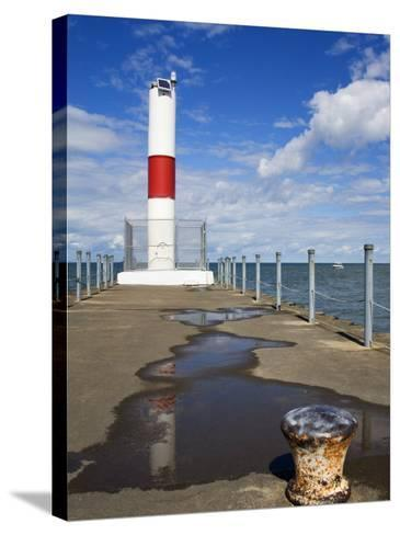 Pier Lighthouse, Rochester, New York State, United States of America, North America-Richard Cummins-Stretched Canvas Print
