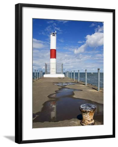 Pier Lighthouse, Rochester, New York State, United States of America, North America-Richard Cummins-Framed Art Print