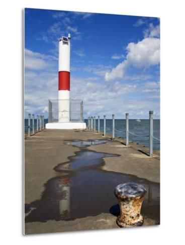 Pier Lighthouse, Rochester, New York State, United States of America, North America-Richard Cummins-Metal Print