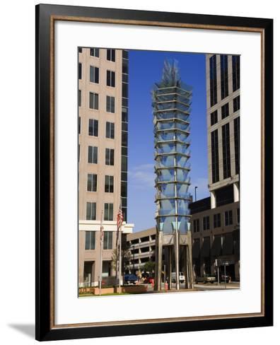 Sculpture, City Hall Plaza, Orlando, Florida, United States of America, North America-Richard Cummins-Framed Art Print