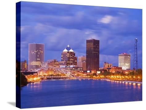 Genesee River and Rochester Skyline, New York State, United States of America, North America-Richard Cummins-Stretched Canvas Print