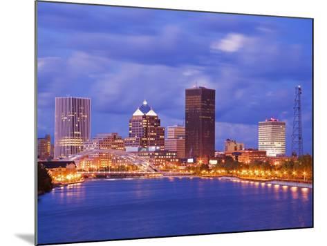 Genesee River and Rochester Skyline, New York State, United States of America, North America-Richard Cummins-Mounted Photographic Print