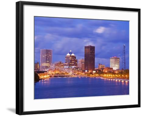 Genesee River and Rochester Skyline, New York State, United States of America, North America-Richard Cummins-Framed Art Print